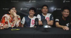 Mobile Legends: Bang Bang MPL PH Season 7 team Blacklist International with DEX STAR, Wise, OhMyV33NUS, and BON CHAN