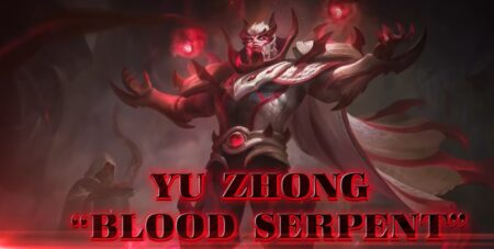 Mobile legends: bang bang yu zong collector skin, blood serpent