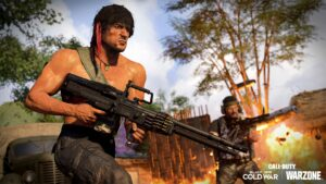 Rambo with LMG of Call of Duty: Warzone