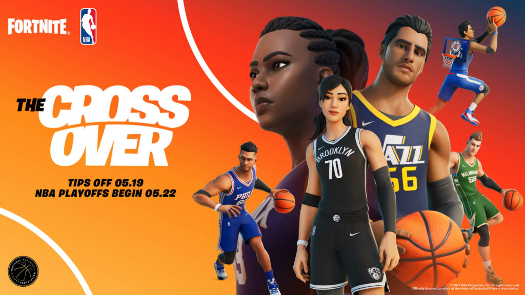 Official promotion of Fortnite NBA Crossover