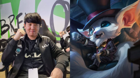 Side by side of Khan of DWG KIA and Gnar of League of Legends