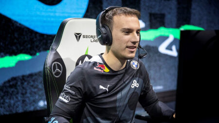 Photo of Perkz of Cloud9 during MSI 2021