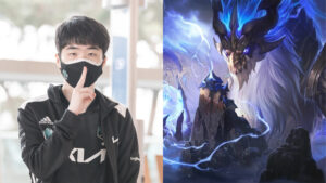Side by side of Ghost of DWG KIA and Aureliion Sol of League of Legends