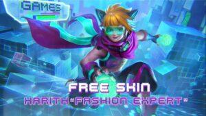 Mobile legends: bang bang 515 eparty event skin, fashion expert harith