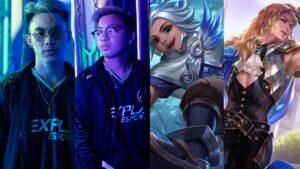 Mobile legends: bang bang nexplay esports renejay and h2wo, heroes harith and lancelot