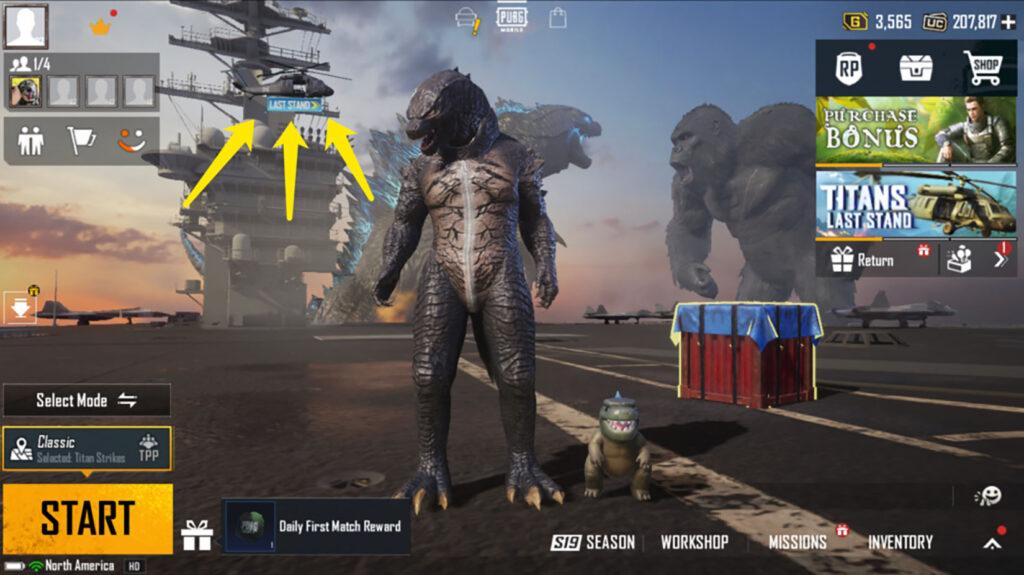 PUBG Mobile, Godzilla vs Kong event