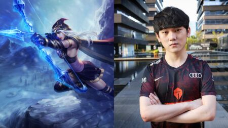 LeagueOfLegends Worlds2020 TopEsports JackeyLove Ashe highlightplay