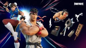 Fortnite, Street Fighter, Chun Li, Ryu, Items