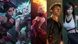 Mobile Legends: Bang Bang, Hanabi, League of Legends, Viego, Dota 2, Lina, Uncharted, Nathan Drake, Final Fantasy VII Remake, Tifa Lockhart Waifu Husbando Video Game